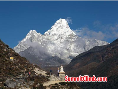 amadablam seen while trekking