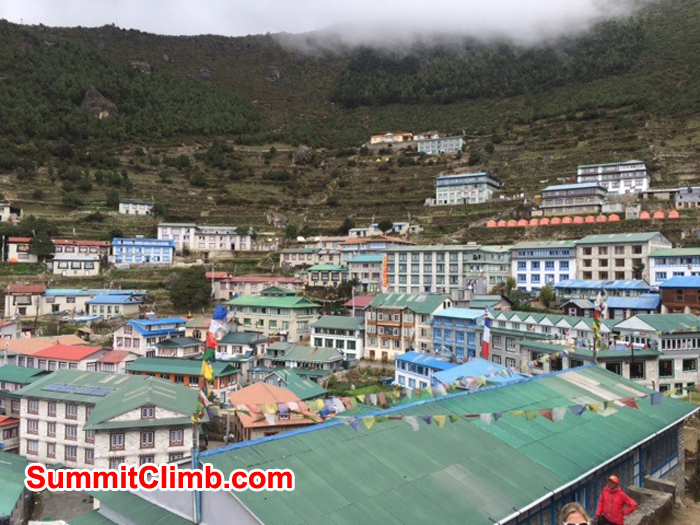 Capital of Khumbu Valley Namche Bazaar. Photo credit: Dave