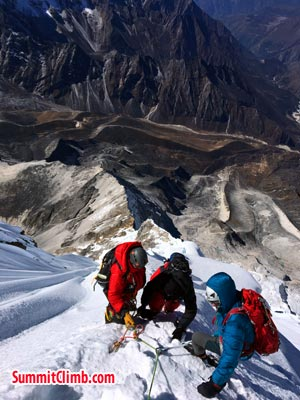climbers going for summit
