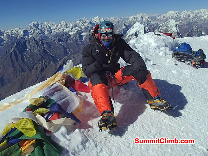 Don at the summit of Amadablam