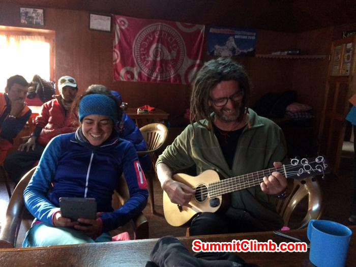 Micheal and Carmen relaxing in The Lodge!