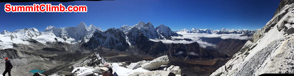 Panaromic view from camp 1, amadablam