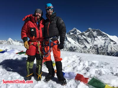 rob and charles on the summit of amadablam