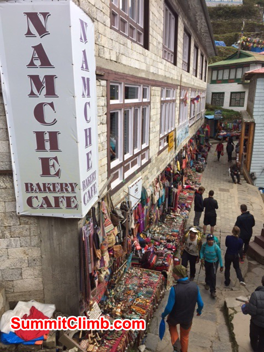 Street of Namche Bazaar for shopping.Photo credit: Dave