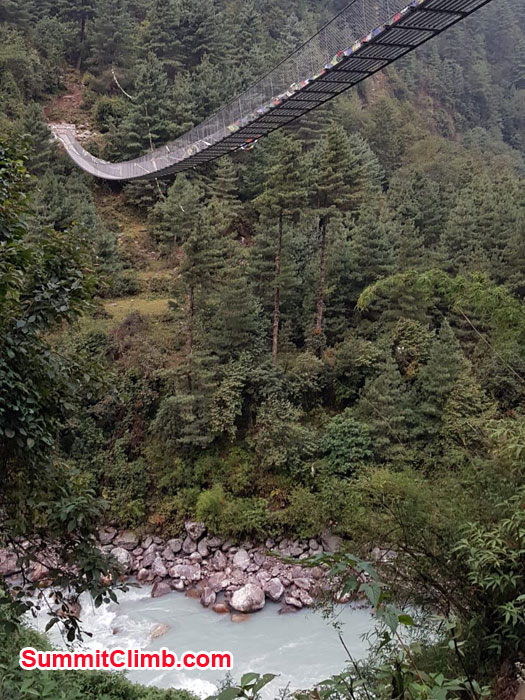 suspension bridge near Phakding