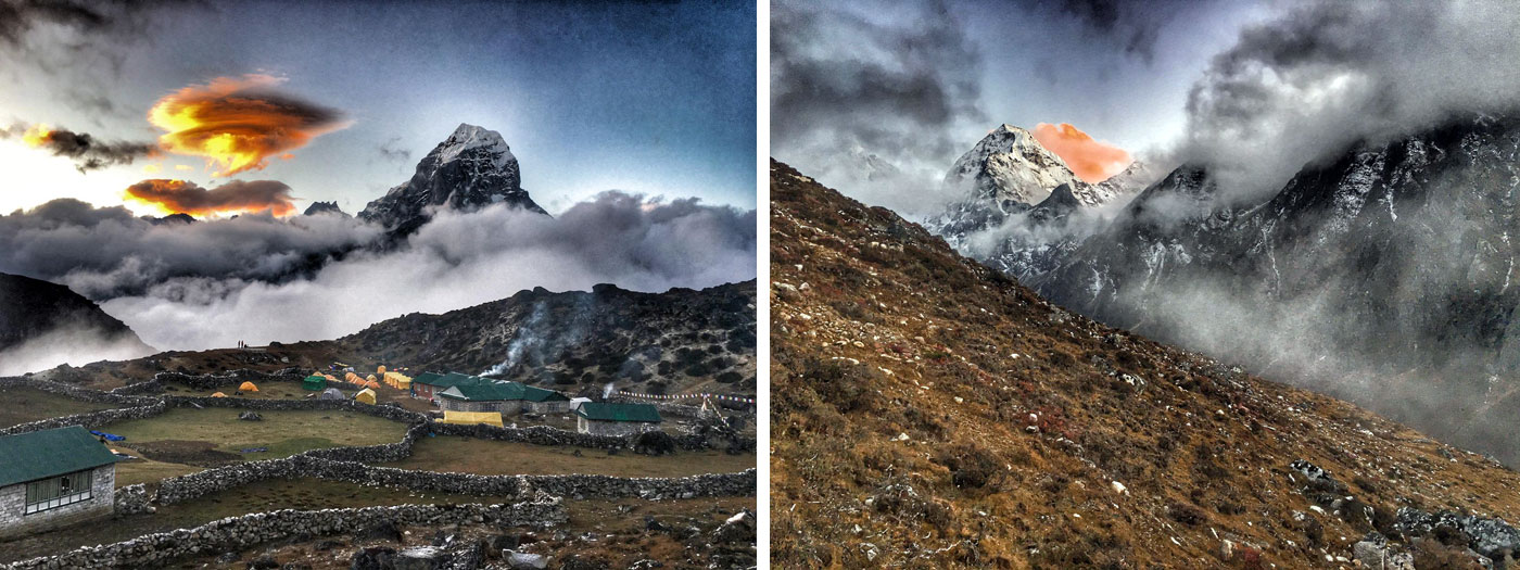 Taboche and Ama Dablam Basecamp. Photo Martin