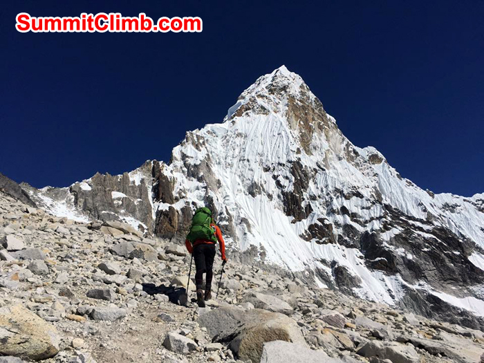 approching near to camp 1 amadablam