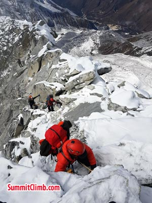 going for summit near dablam