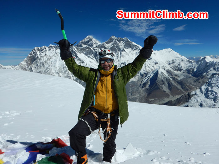 amadablam summit everest background