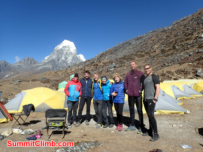 group with tent