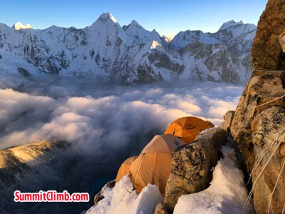 tents are on Amadablam camp 2