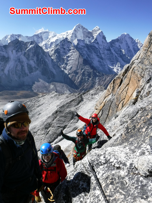 member climbing