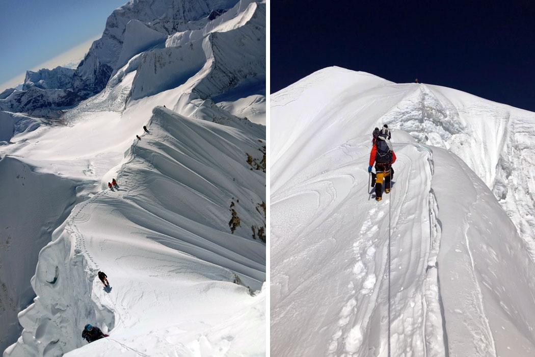 just below second top just below second summit above camp 2
