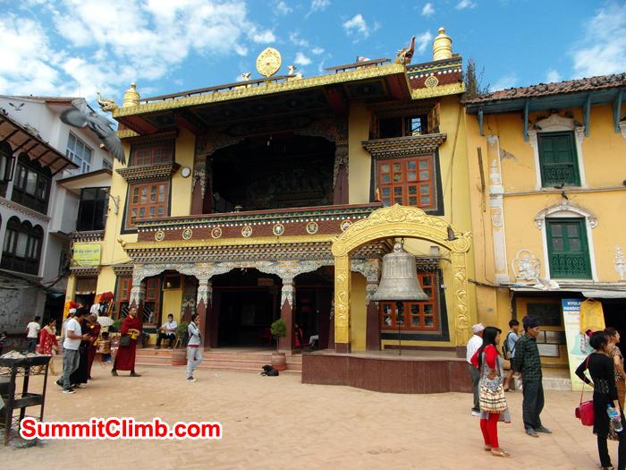 Buddhist Pray room near Boudhanath