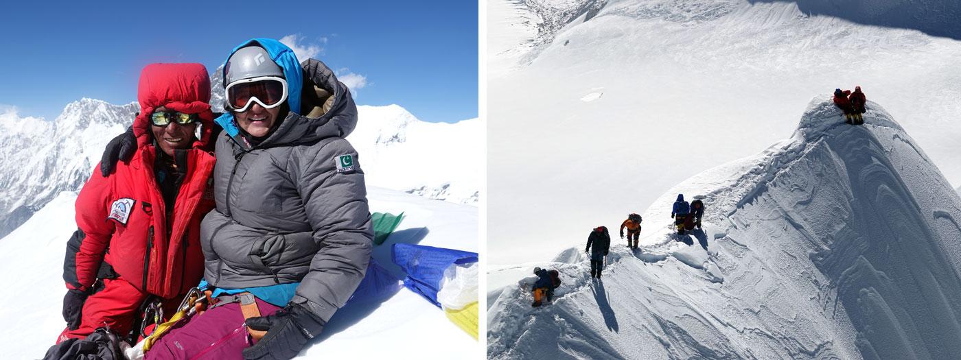 summit at baruntse on the ridge of Baruntse