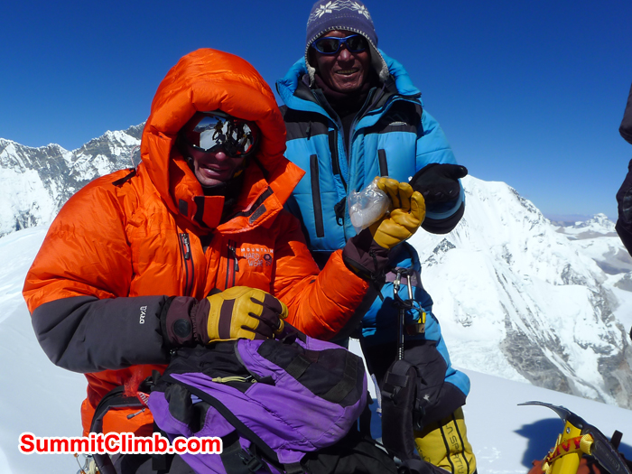 Kurt and Jangbu are on the Summit