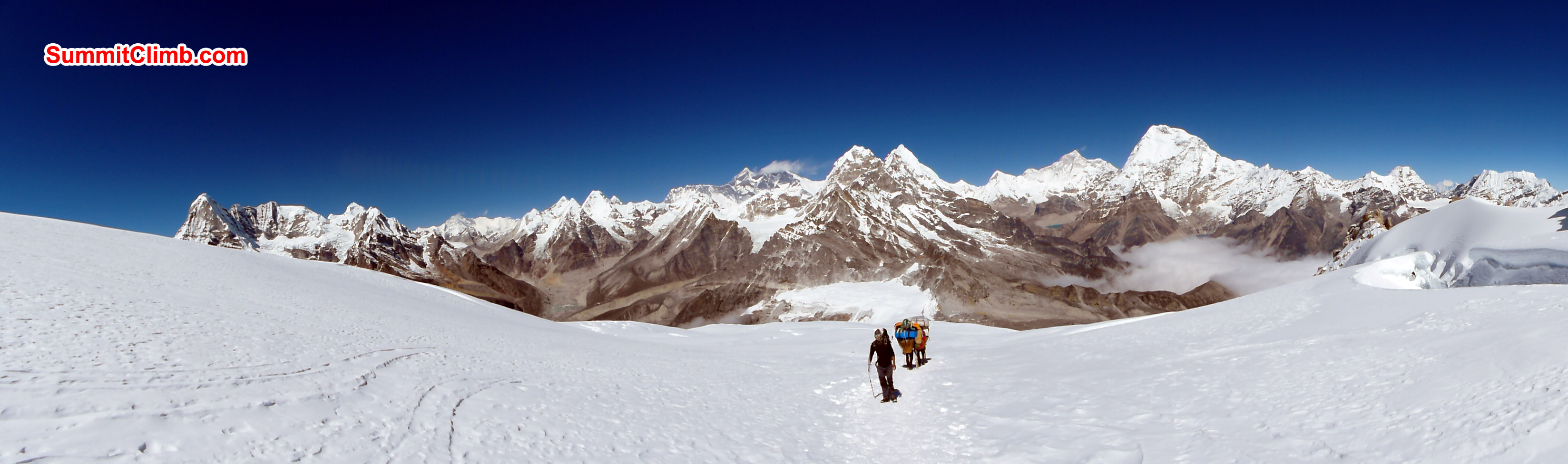 Panaromic view from Mera High camp