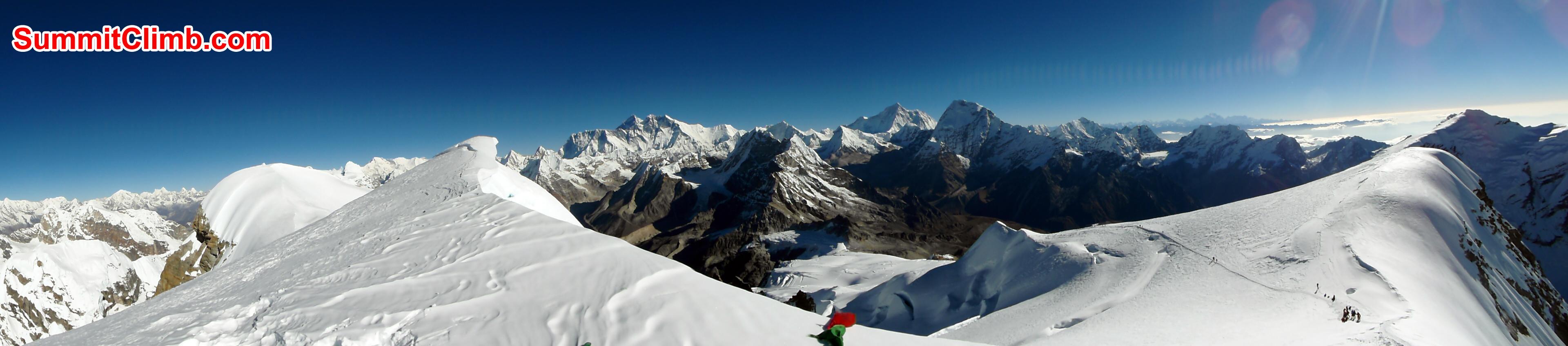 Panaromic view from Mera Peak Summit