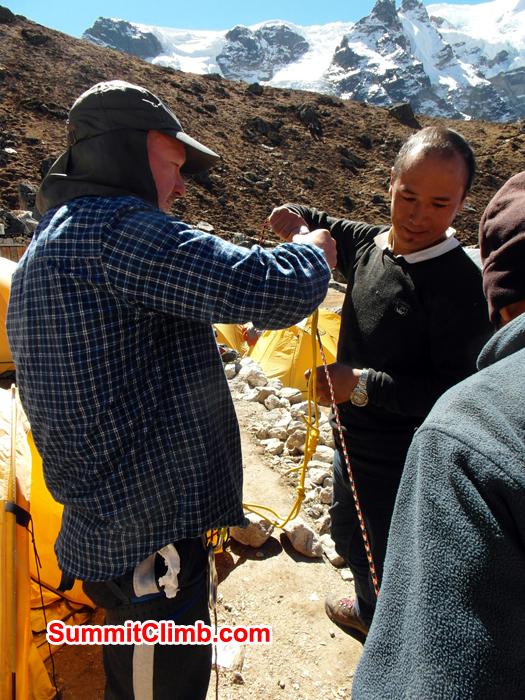 Rope training before Mera Peak climb