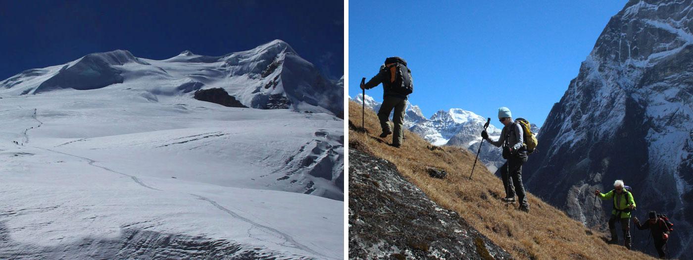 Summit seen from Mera high camp. Chetra la.