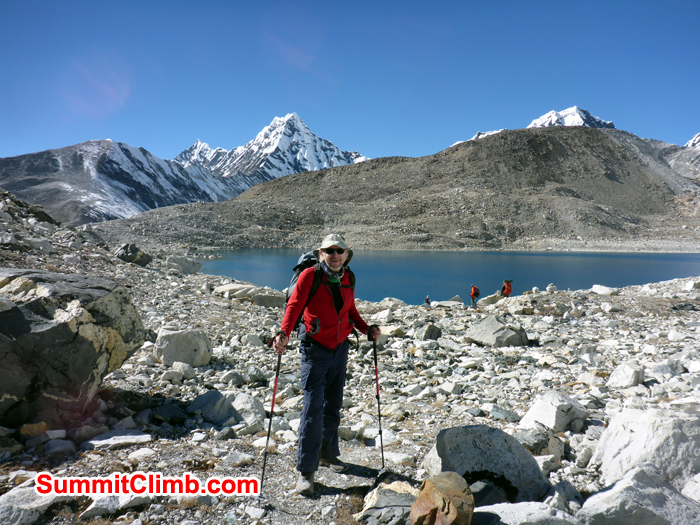Trekking through the Hongku Valley at 4700 metres/15,400 feet. Photo Steve