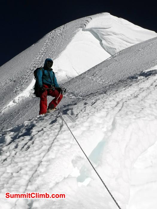 baruntse summit ridge from gordon