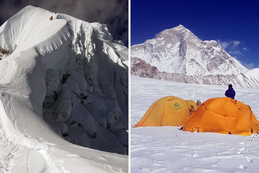 baruntse with tents