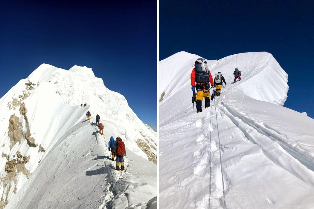 below second summit above camp 2