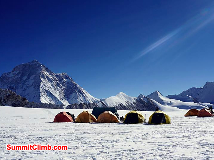 high camp 1 on ascent of baruntse 6100