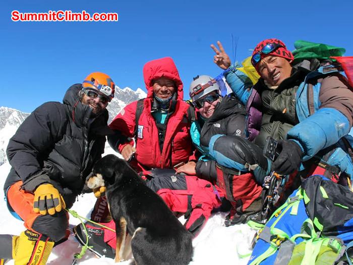 team member and sherpa