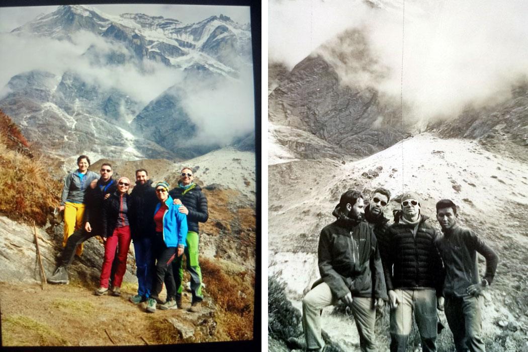 the team in front of Mera peak