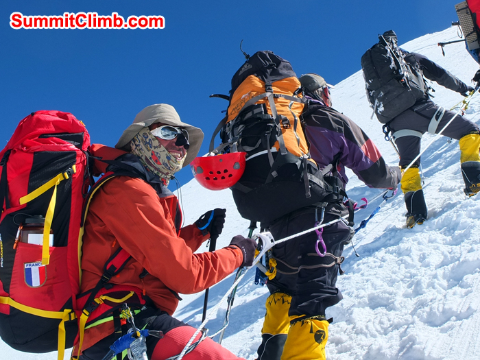 Ascent from C1 to C2, cho oyu