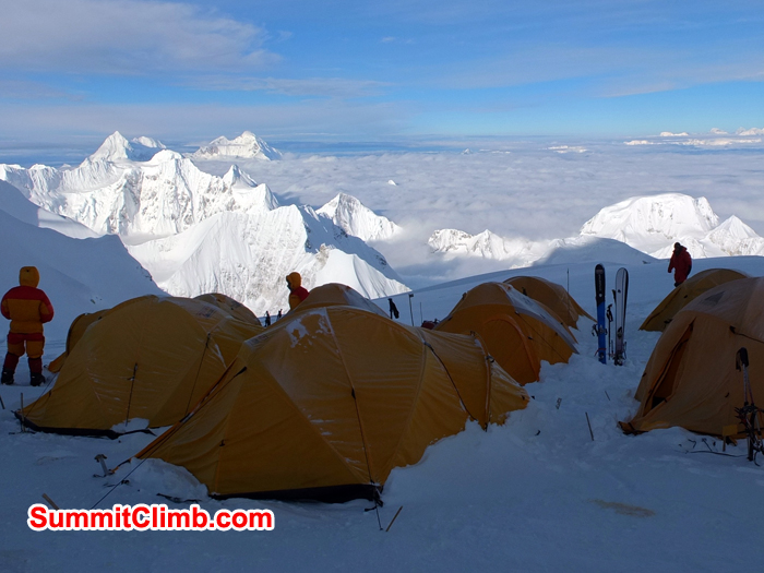 Camp 2 with awesome view, cho oyu, climbing, mountain, summitclimb