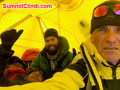 cho oyu news, enviroment inside tent at camp 2