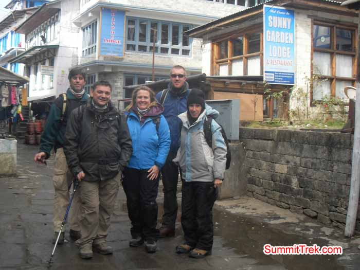 Team members are in the street of Lukla. Photo Kaji Tamang