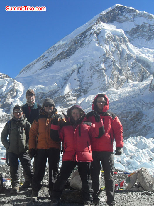 Christmas New Year members at Everest Base Camp. Photo Kaji Tamang