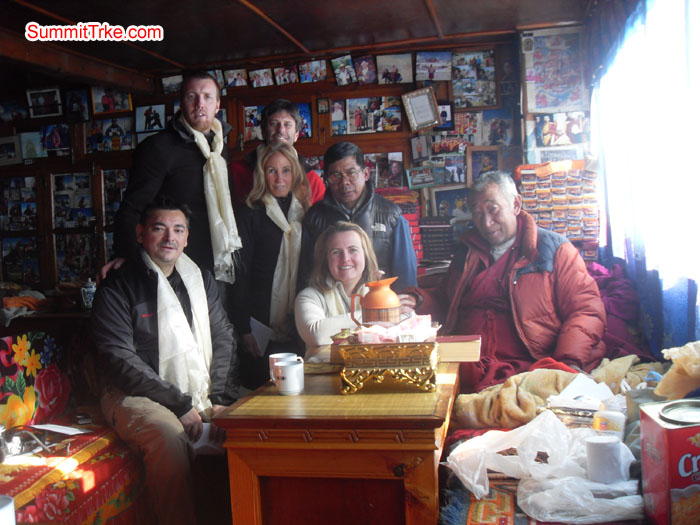 Christmas New Year Group at Pangboche with Lama Gasi. Photo Kaji Tamang.