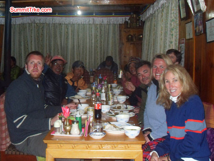 Christmas New Year members at thukla Lodge. Celebrating New Year.Photo Kaji Tamang