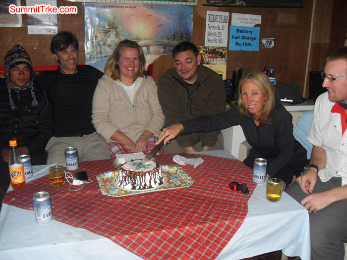 Christmas New Year members celebrating Christmas day at Namche. Photo Kaji Tamang