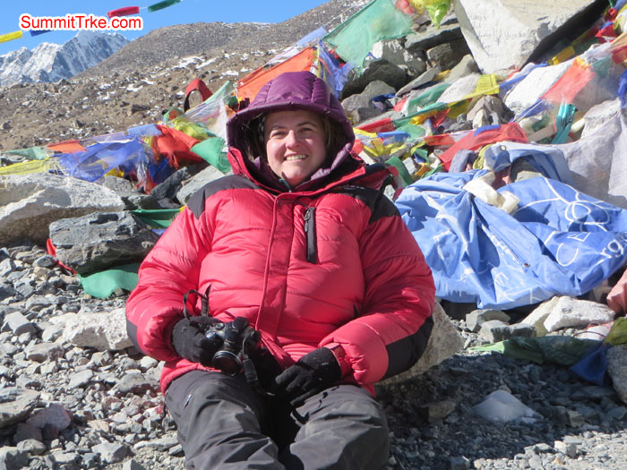 Alex at Everest Base Camp. Photo Aless.