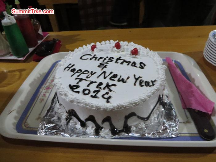 Christmas New Year Cake. Photo Aless.