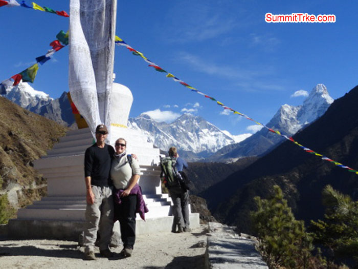Beautiful day just after 15 minutes way from Namche. Photo Darek