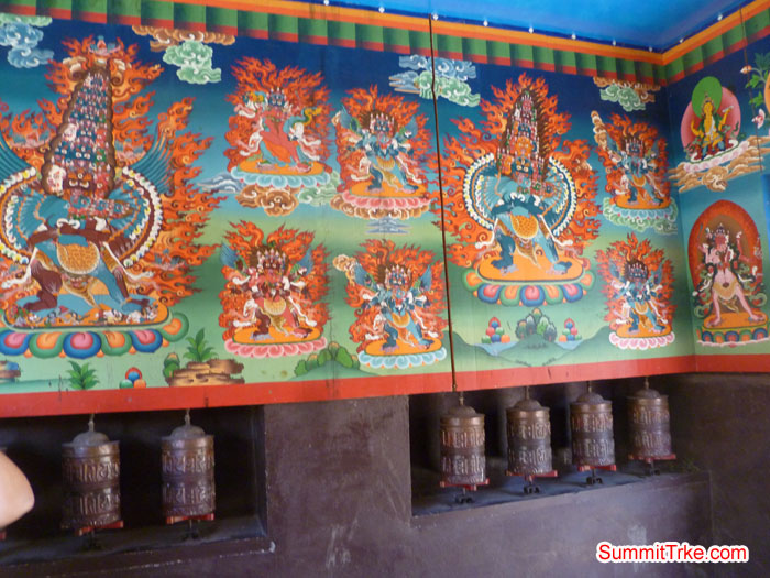 Budish Thangka on th wall. Photo Scott