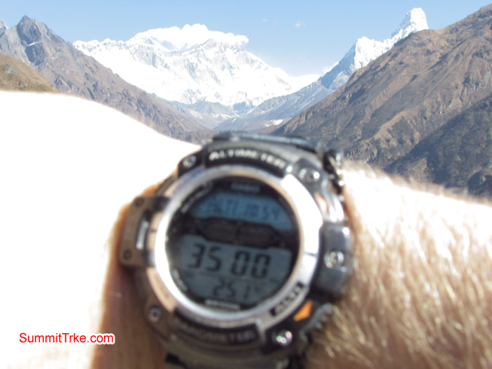 At 3500 m. Photo Luke