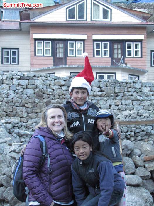 Christmas day at Namche. Photo Aless and Luke