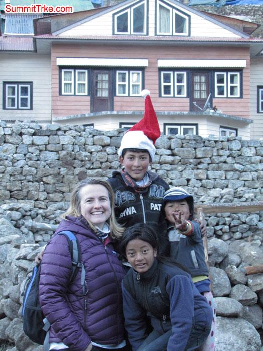 Christmas day at Namche. Photo Aless and Luke