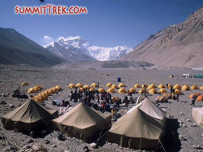 Preparing our yak loads at Chinese basecamp at 5,200 meters/17,000 feet