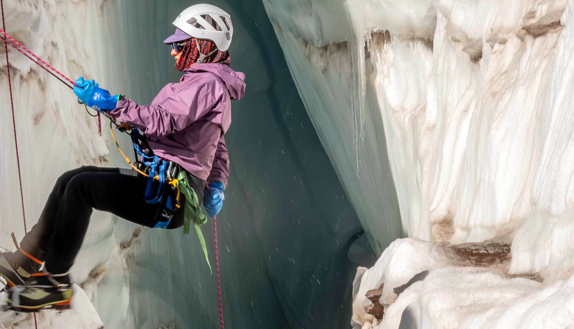 how to rope on glacier