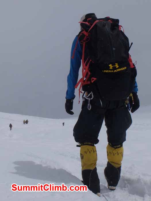 Descending the Manaslu glacier to Camp 1. Daniel Mazur Photo