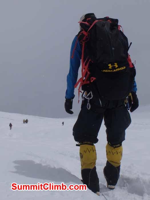 Descending the Manaslu glacier to Camp 1. Daniel Mazur Photo